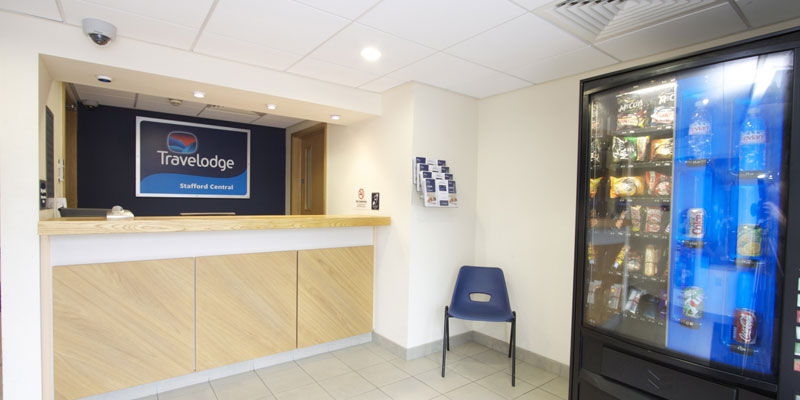 travelodge stafford central reception